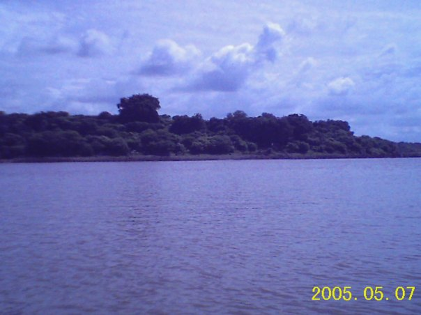 'Bet' as seen from the bank of Narmada